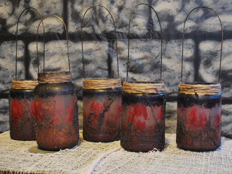 Unlit Witch Lantern jars